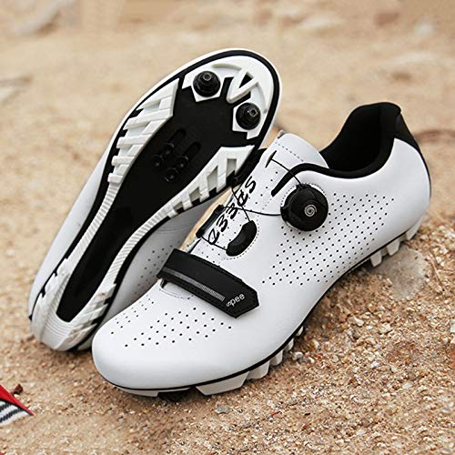 Zapatillas Bicicleta Carretera, Zapatillas Ciclismo Para Hombre, Zapatillas CóModas Primera Calidad, Con Tacos, Zapatillas Spd Para Hombre, Zapatillas Ciclismo Carretera Para Interior H-UK 7.5=EU 42