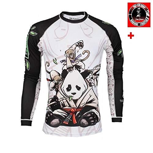 Tatami Fightwear Herren Sanfter Panda Rashguard, Weiß, weiß, m