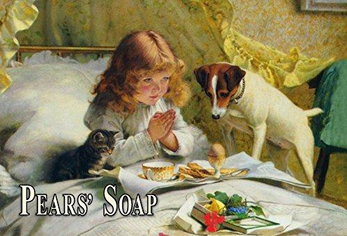 Schatzmix metalen bord Pears Soap zeep hond kat meisje metalen bord wanddecoratie 20x30 tin sign