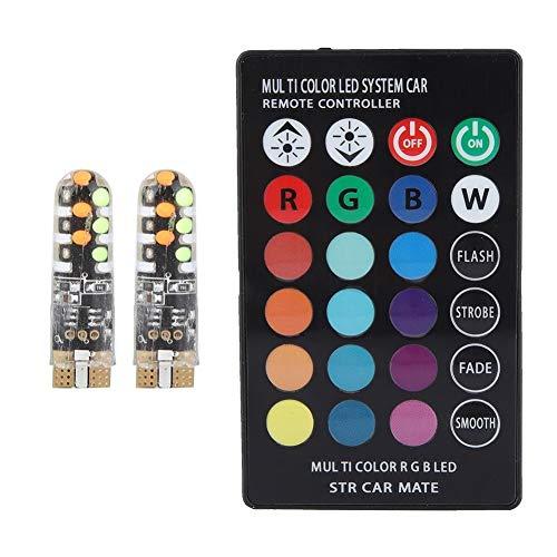 KSTE RGB-binnenverlichting voor de auto van de koepel lezen, kleurrijke LED-lamp met afstandsbediening (zonder batterij)