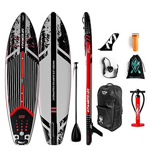 JDDSA Aufblasbares Rennen SUP Board I Stand up Paddle Board I 320x82x15cm Paddling Board Paddelboard Surfboard for alle Schwierigkeitsgrade Kinder Erwachsene Anfänger