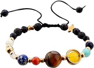 Afazfa💗💗Bracelet Galaxy Solar System Eight Planets Theme Natural Stone Beaded Fashion