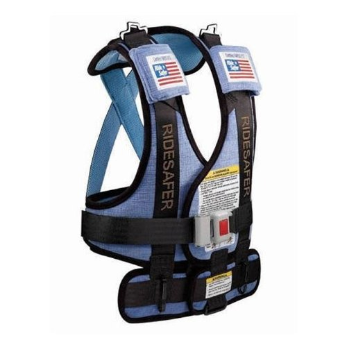Safe Traffic Systems GD10101BWB Safe Rider Travel Vest Small 30 - 60 lb - 34 - 52 Inches - Blue