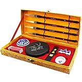 Mozentea Chinese, japanese Calligraphy, Kanji, Sumi Brush pen Writing/Painting Set (10 Items)