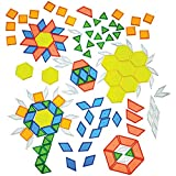 Product Image of the Constructive Playthings - EDX-147 Toys Translucent Pattern Blocks, Set of 147...