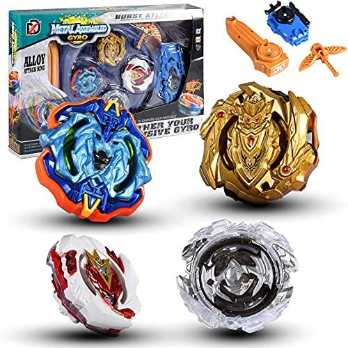 su ma Série Blue Devils Beyblade Toys et Beyblade toupies Burst, Gyro Spin Fighters avec Lanceur, Starter Set pour Cadeaux pour Enfants