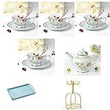 15-Piece Coffee Cup Set for Four, Afternoon Tea Set, European Ceramic Heat-resistant Tea Set