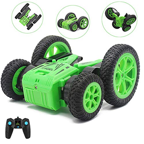 SeeKool Coche Teledirigido,RC Stunt Toy Car with Double Sided 360°Flips 2.4GHz Control Remoto Tracks 4WD Off Road Truck Coches para Niños(Batería Incluye)