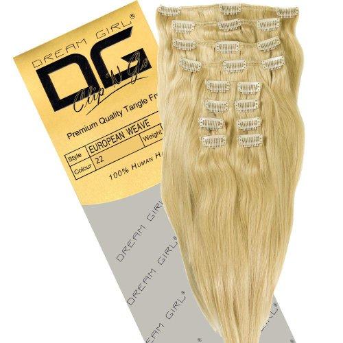 Dream Girl Extensions de cheveux à clipser Couleur 22 35 cm