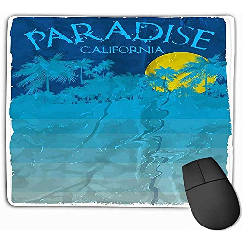 Mouse Pad, Mouse Mat California Beach Typography Printing Sportswear Apparel ca Original wear Concept Vintage Graphic 25 * 30CM