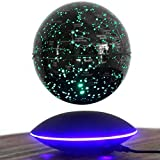 Upscale Dekoration Geschenk Magnetic Levitation Schwebender Globus 6 Zoll Weltkarte Rotating Globe Luminous Craft-Verzierung Intelligent buntes LED-Licht