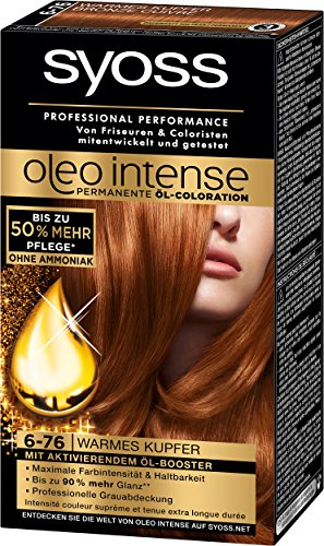 Syoss Oleo Intense Coloration 6-76 Warmes Kupfer, 3er Pack (3 x 115 ml)