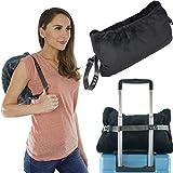 XOQute Premium Coral Fleece Travel Pillow Blanket 2 in 1 | Compact Travel Blanket and Pillow Set | Travel Pillow and Blanket Set | Airplane Blanket | Portable Blanket Pillow | Compact Blanket (Black)