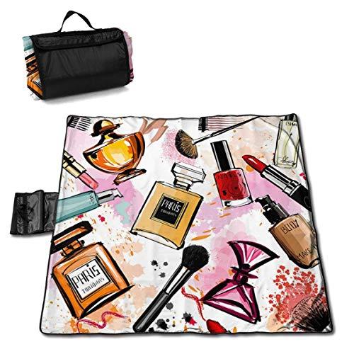 End Nazi Picknickdecke Kosmetisches Make-up Muster Parfüm Lippenstift Moderne extra große...