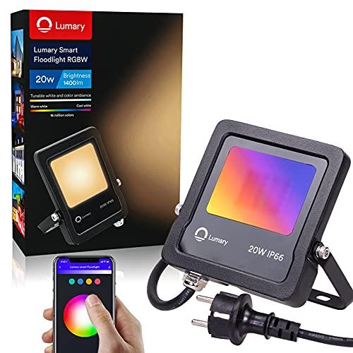 Lumary Focos LED Exterior RGBW - Foco LED 20W Foco LED Exterior...