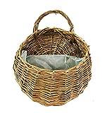 Montato sui cesti di fiori muro, Idillio a mano cesti appesi in rattan, vasi di fiori per la decorazione di porte per le pareti matrimonio giardino,A