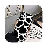 Wvnkx 新しい白黒牛シンボルパターン印刷電話ケースカバーfor iPhone 6 6 s 7 8プラスX XS XR MAX 11プロSE 2020バックケースカバー-3-for iPhone 11 Pro