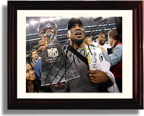 Framed Charles Woodson Autograph Replica Print