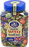 Office Snax OFX94054 Walker's Assorted Royal Toffees, Reclosable Candy Tub, 2.75-Pound Tub
