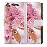 DeinDesign Étui Compatible avec Sony Xperia XZ1 Compact Étui Folio Étui magnétique Fleurs de...