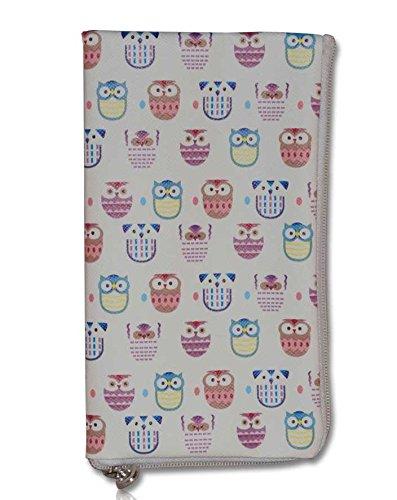 Soft Case Handy Tasche mit Reißverschluss für Samsung Galaxy S3 Neo - S4 - S5 - J1 - J3 - A3 - Apple iPhone 6s- Schutzhülle crazy Eule L