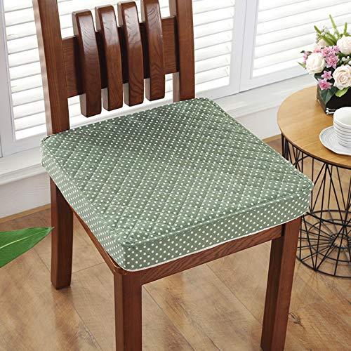 Cuscino Da Pavimento Piazza Cuscino Sedia Addensare Lino Di Cotone Cuscino Da Seduta Cuscino Da Meditazione Per Yoga Soggiorno Sedia Da Pranzo Lettura Cuscini Per Sedie-Verde 50x50x8cm(20x20x3inch)