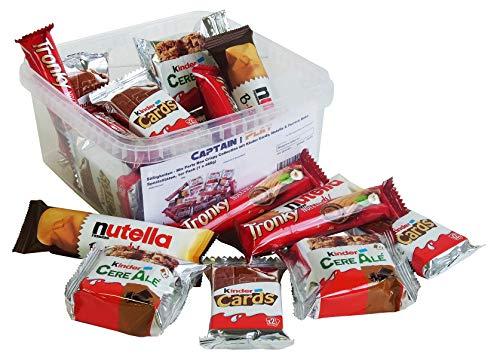 Süßigkeiten – Mix Party Box Crispy Collection mit Kinder Cards, Nutella & Ferrero Keks Spezialitäten, 1er Pack (1 x 488g)