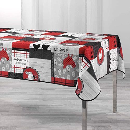 Arte Provenzale Tovaglia antimacchia Auberge Rettangolare e Rotonda (200_x_150 cm.)