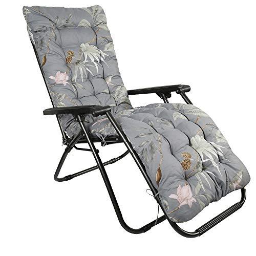 Cuscino Imbottito per Sedia Sdraio da Giardino 170cm con Cappuccio Antiscivolo Cuscino per Poltrona Sdraio Morbido d'Interno e d'Esterno Colore di Fiore (3#)
