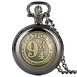 LEYUANA Negro/Bronce/Oro/Plata Reloj de Bolsillo de Cuarzo,