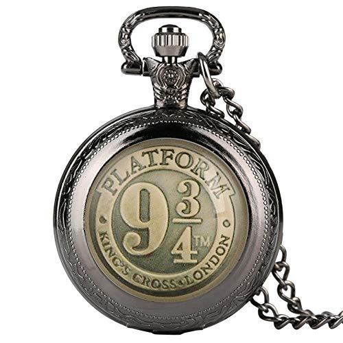 LEYUANA Reloj de Bolsillo de Cuarzo Negro/Bronce/Oro/Plata,