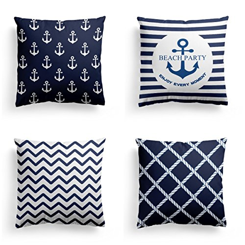 Navy Blue Christmas Thanksgiving Decorative Throw Pillow Covers