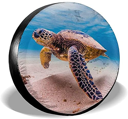 Cubierta de neumático de repuesto de tortuga marina,poliéster,universal,de 16 pulgadas,cubierta de neumático de repuesto para remolques,vehículos recreativos,SUV,ruedas de camiones,camiones,caravanas