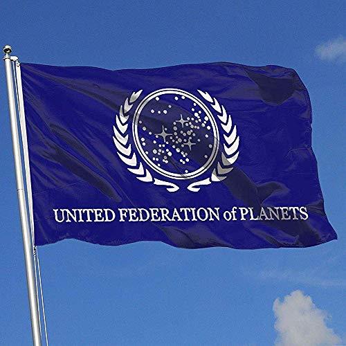 Not Applicable Yard Flags,Star Trek Federation of Planets Stilvolle Saisonale Gartenflaggen Für Die Dekoration Von Feiertagen 120cmx180cm