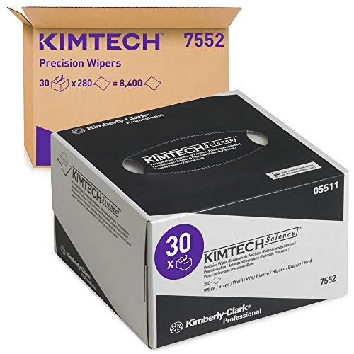 KIMTECH SCIENCE* PAÑOS DE PRECISIÓN 30 dispenser boxes x 280 white, small 1 ply sheets = 8400 sheets