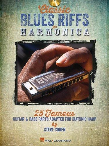 Classic Blues Riffs For Harmonica: Noten, CD, Lehrmaterial für Mundharmonika (diat./chr.)