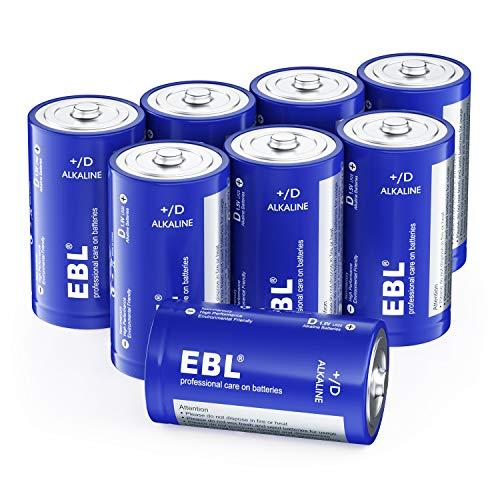 EBL 単一電池 乾電池 単1 アルカリ 電池 8個セット 単1電池