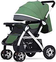 Baby carriage Hot Mom Pushchair • Kompakte Kinderwagen • Buggy mit Liegeposition • Zweiwege-Kinderwagen-Reisesysteme • Regenschutz,grün B enthalten