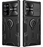 Samsung Galaxy Note 20 Ultra 5G Case with Ring Kickstand and Camera Lens Cover, CamShield Armor Shockproof PC & TPU Bumper Hybrid Protective Cover (Black,Note 20 Ultra/Note 20 Ultra 5G)