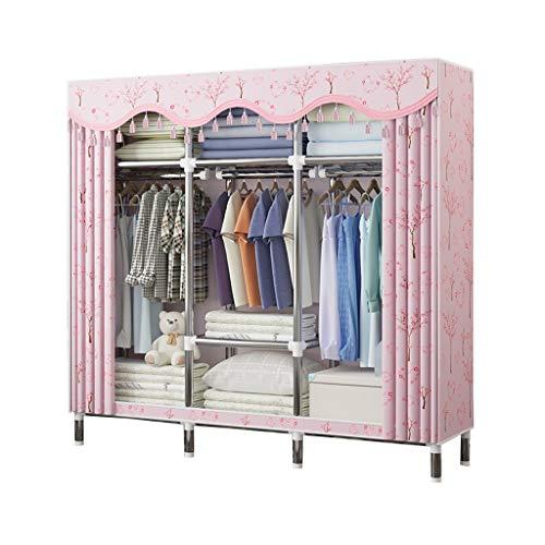 Armario Sencillez Lona almacenaje de la Ropa Organizador Mobiliario de Dormitorio estantes Que cuelgan del Carril MXJ61 (Size : 170x46x170cm)