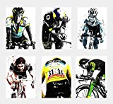 Wall Art Decor Poster mit Sportsternen, Radsport-Triathlon,