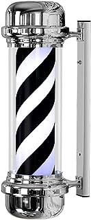 73CM LED Poste de Barbero 38CM Blanco Luminoso Giratorio