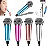 Mini Voice Recording Microphone Portable Karaoke Mini Karaoke Microphone, Mic for Singing, Recording, Voice Recording (Blue)