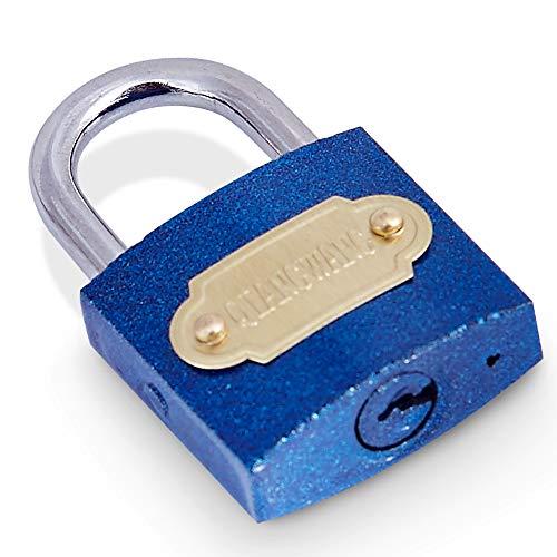 Candado de 29 mm (1 Paquete, Azul) con 3 Llaves, Adecuado para el hogar y la Escuela para asegurar tu Maleta, Cajas de joyería, Armario de Gimnasio, Bolsa, Mini Nevera, Armario y Mucho más.