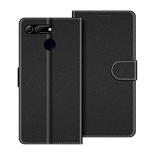 COODIO Custodia per Honor View 20, Custodia in Pelle Honor View 20, Cover a Libro Honor View 20 Magnetica Portafoglio per Honor View 20 Cover, Nero