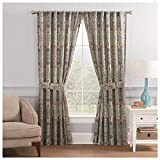 Waverly Pailsey Pizzazz Rod Pocket Curtains for Living Room, Double Panel, 100' x 84', Heritage,18630100X084HER,2