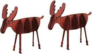 Kiar Wooden DIY Mini Elk Desktop Ornaments Merry Christmas Party Decor Tree Before Nightmare White who DVD for Doctor Stole Outfit Carol Vacation Bag Bad July