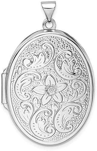 NC83 Collar de cadena de medallón con colgante de foto ovalado de acero inoxidable que contiene imágenes, joyería fina para mujeres, regalos para ella