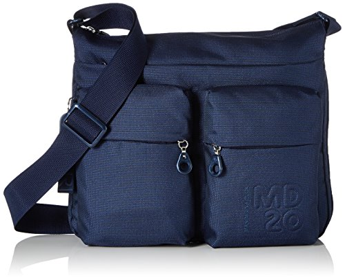 Mandarina Duck Damen Md20 Minuteria, Umhängetasche, Blau (Dress Blue), 4x28.5x33 cm