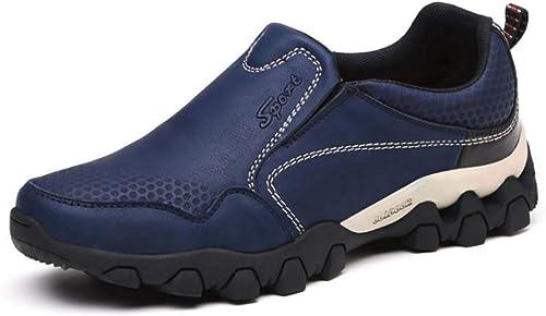 GHFJDO Herren-Wanderstiefel, Wasserdichte Laufschuhe-Atemable Casual Trainers, Soft, Comfort Walking Turnschuhe, Durable Mens Schuhe